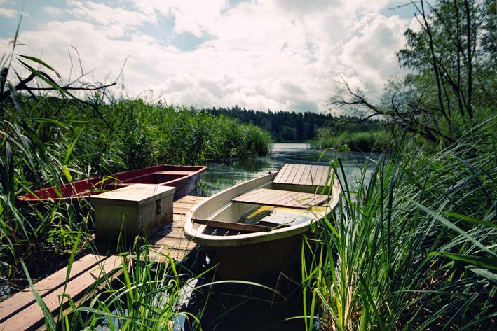 Ruderboot_Kahn_Natur_Campingplatz