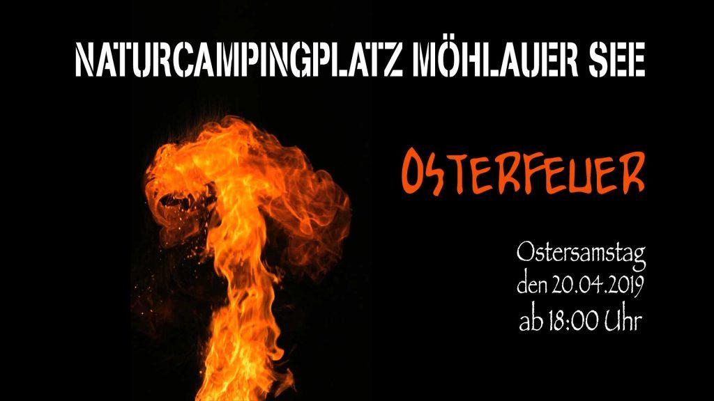 Osterfeuer auf dem Naturcampingplatz