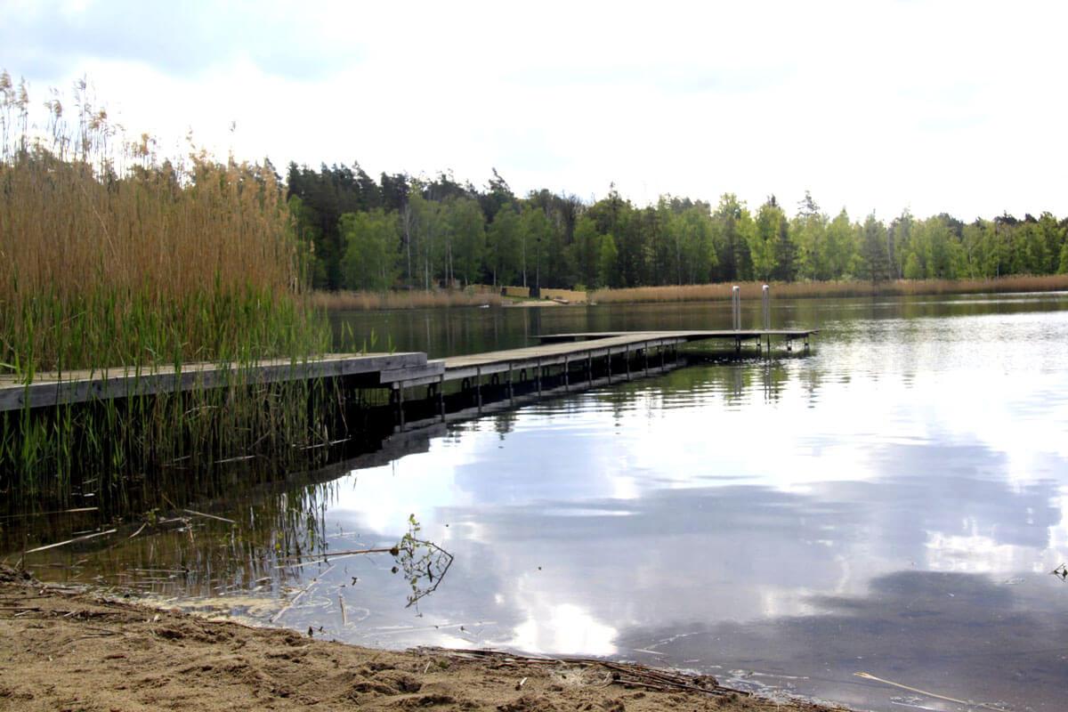 Steg am Moehlauer See
